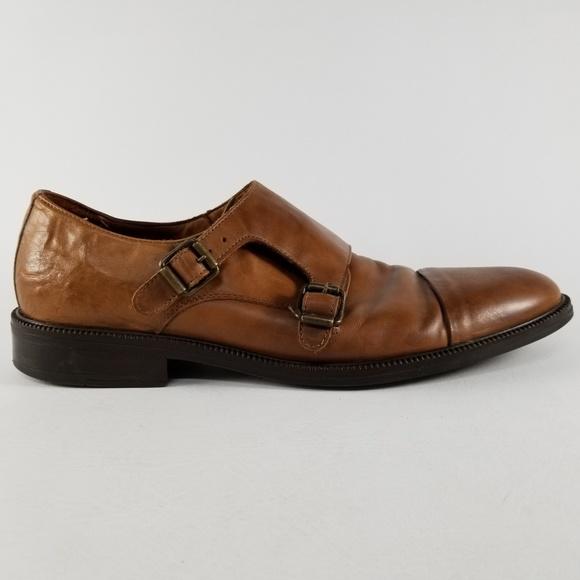 71713e3251 Zara Man Double Monk Strap Leather Shoes EU42 9US.  M_5ad6314f45b30c835f2d0da4